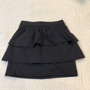 Black pencil skirt with ruffles!🖤